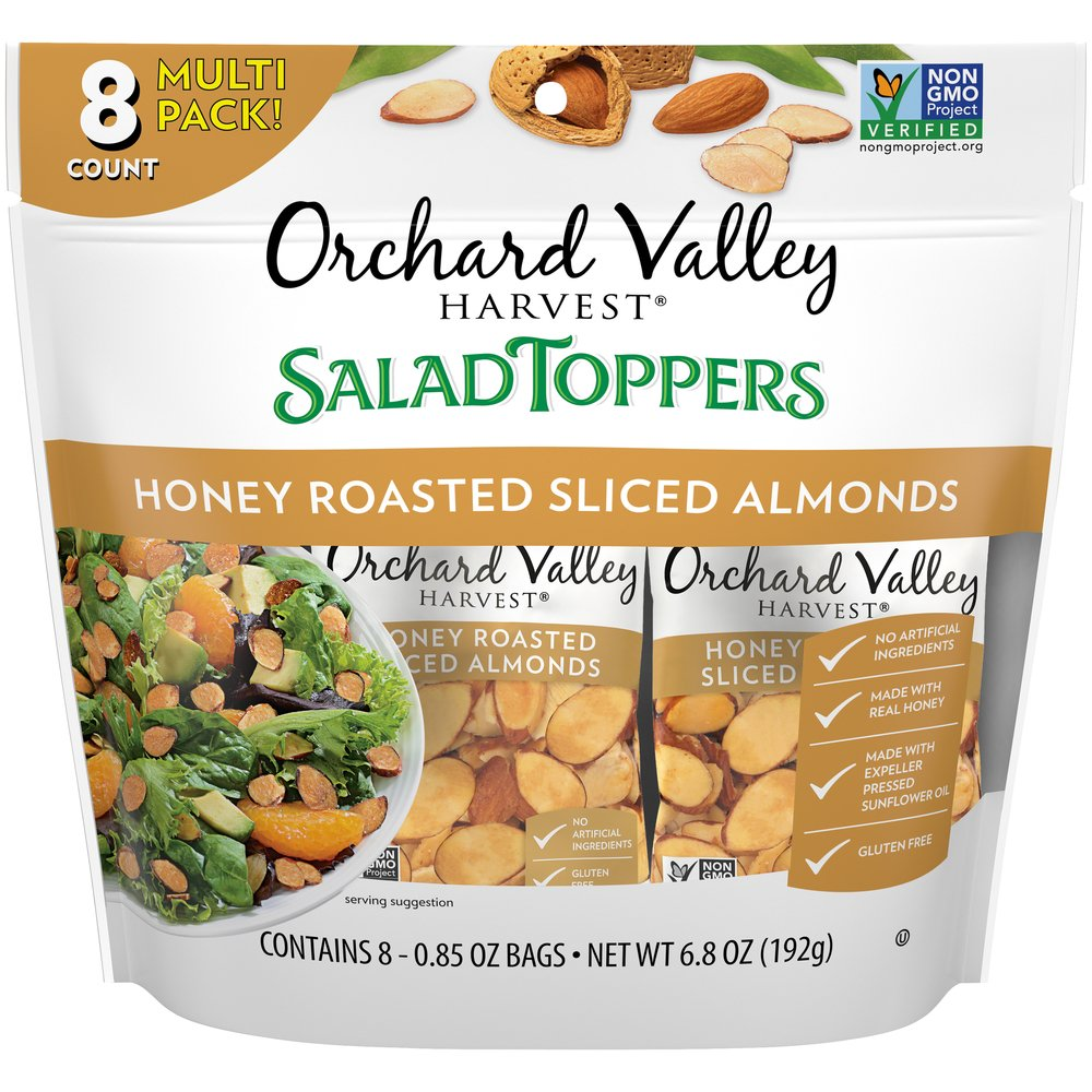 Salad Toppers: Honey Roasted Sliced Almonds & Berries: Multi Pack