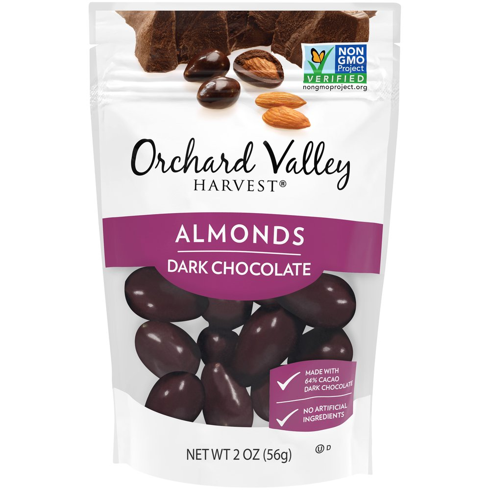 Dark Chocolate Almonds: Grab & Go