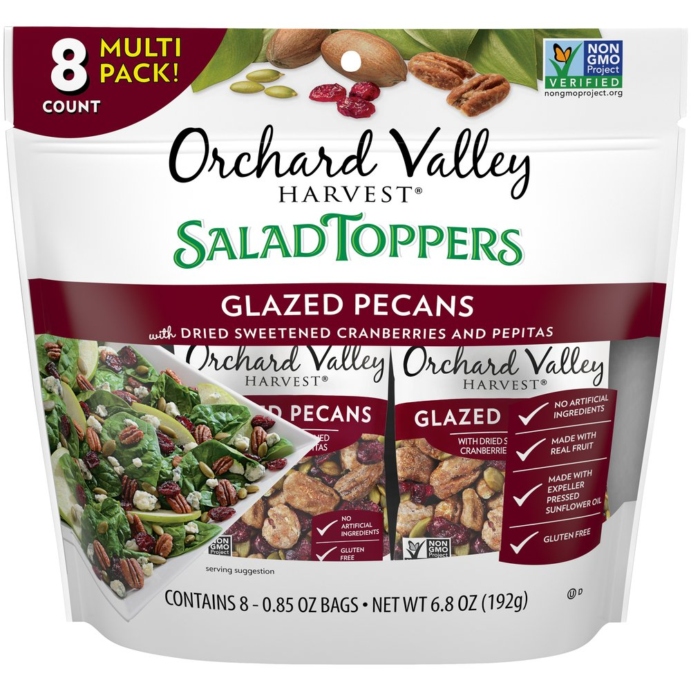 Salad Toppers Glazed Pecans with Dried Sweetened Cranberries & Pepitas: Multi Pack