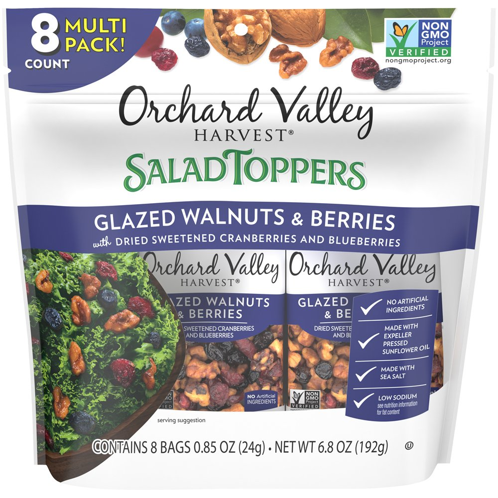 Salad Toppers Glazed Walnuts & Berries: Multi Pack