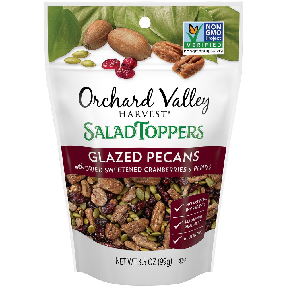 Salad Toppers Glazed Pecans with Dried Sweetened Cranberries & Pepitas