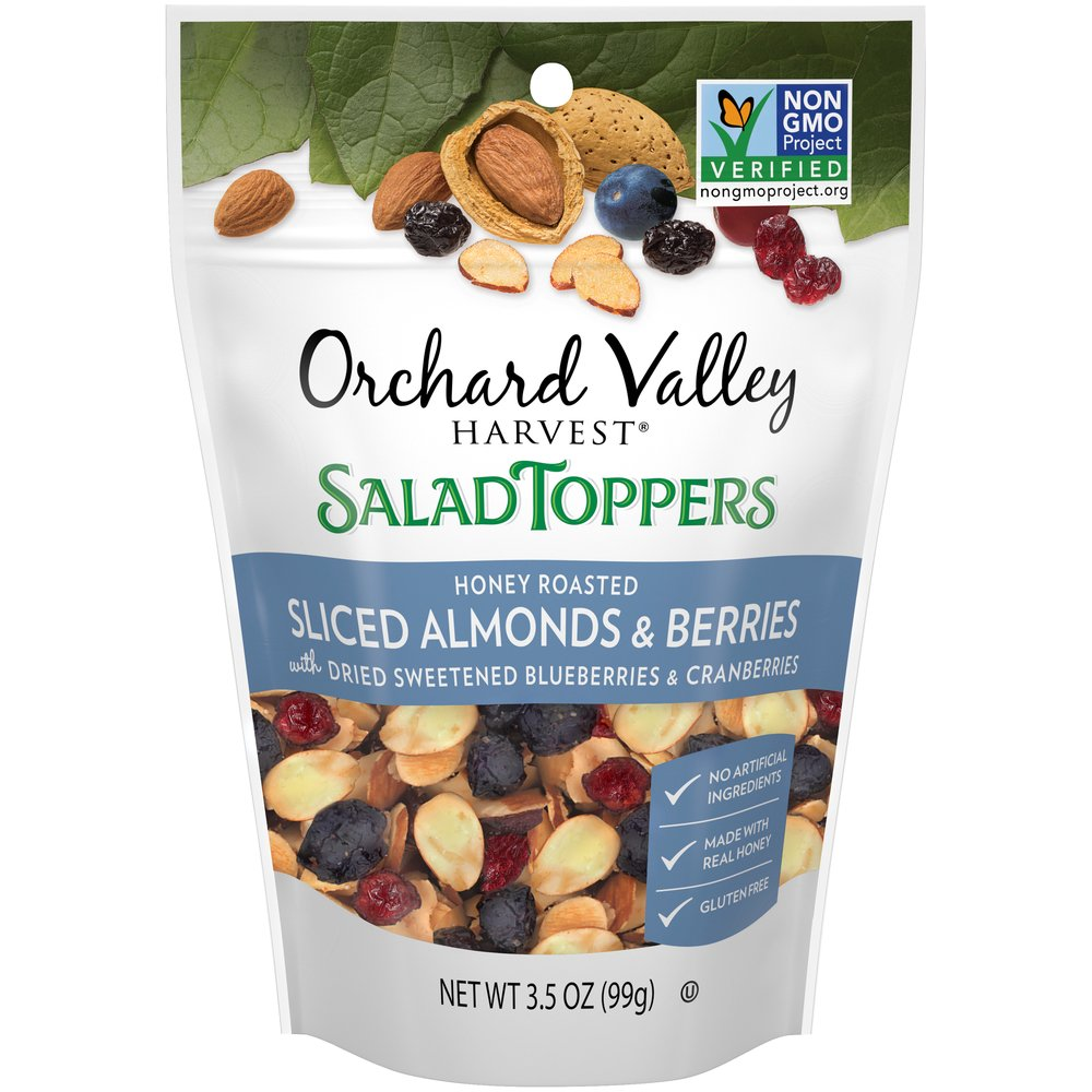 Salad Toppers Honey Roasted Sliced Almonds & Berries
